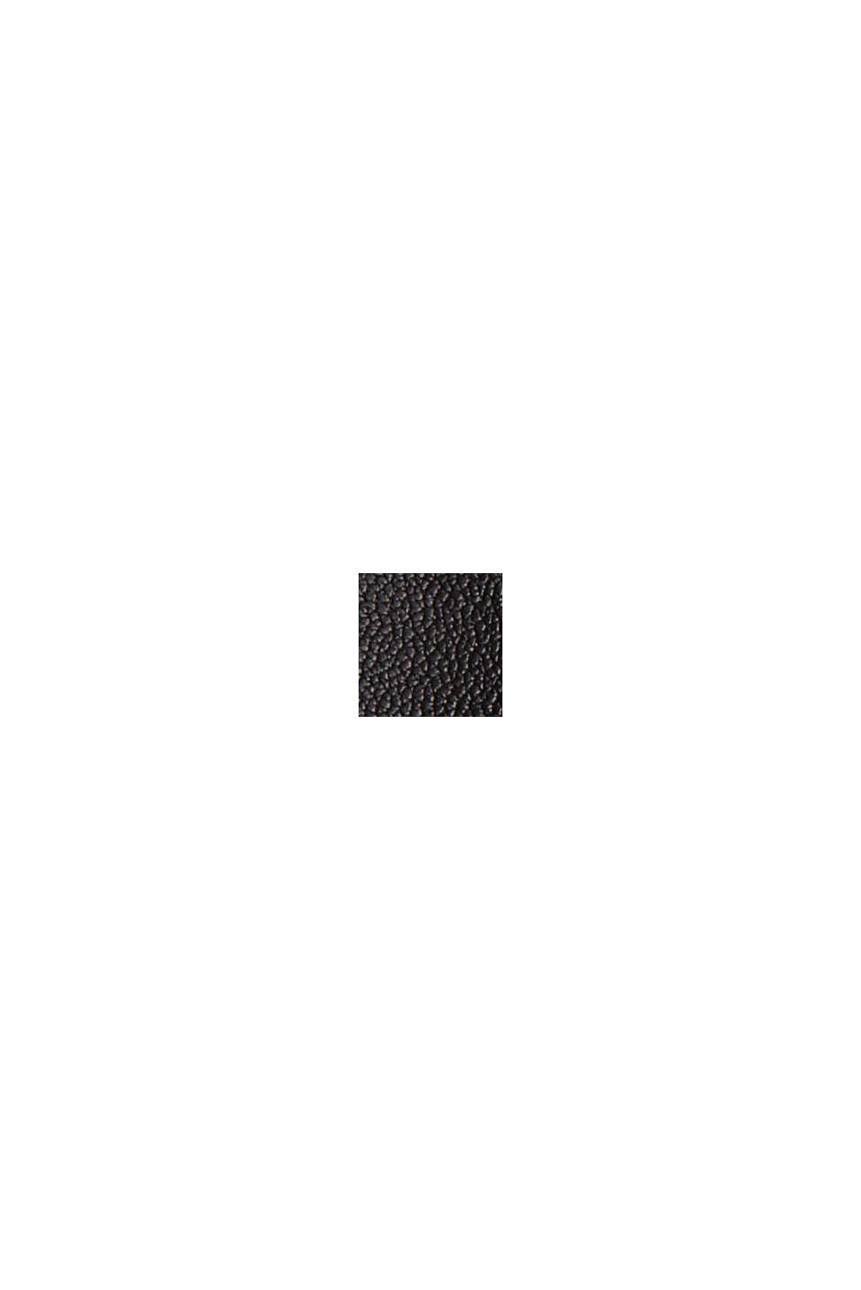 I skinn: culottebyxa med hög linning, BLACK, swatch