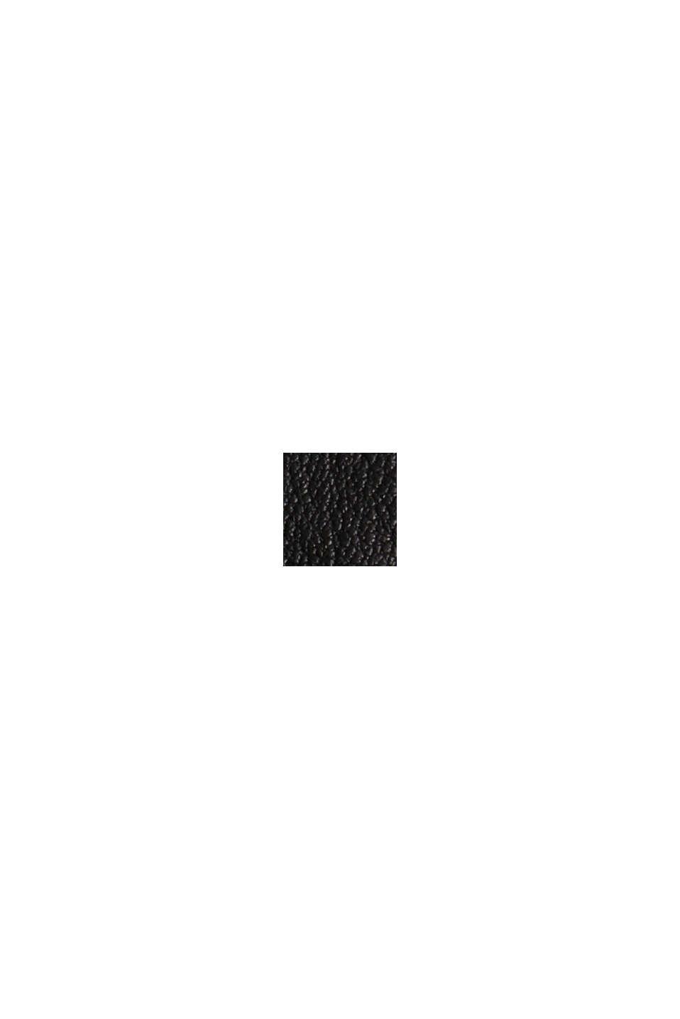 Ze skóry: joggersy z pasem ściąganym sznurkiem, BLACK, swatch