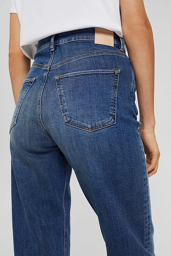 Jeans met omgeslagen zomen, biologisch katoen, BLUE MEDIUM WASHED, detail image number 2