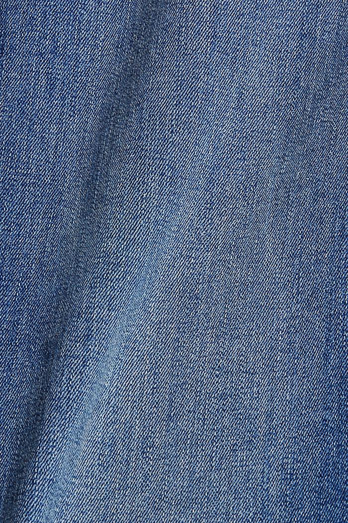 Jeans met omgeslagen zomen, biologisch katoen, BLUE MEDIUM WASHED, detail image number 4