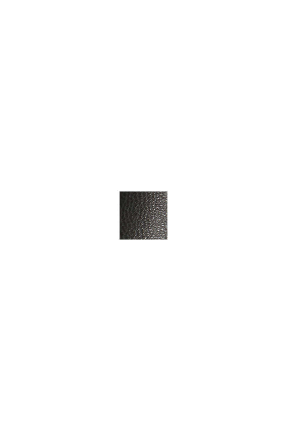 Skrócone spodnie z imitacji skóry ze ściąganym sznurkiem, BLACK, swatch