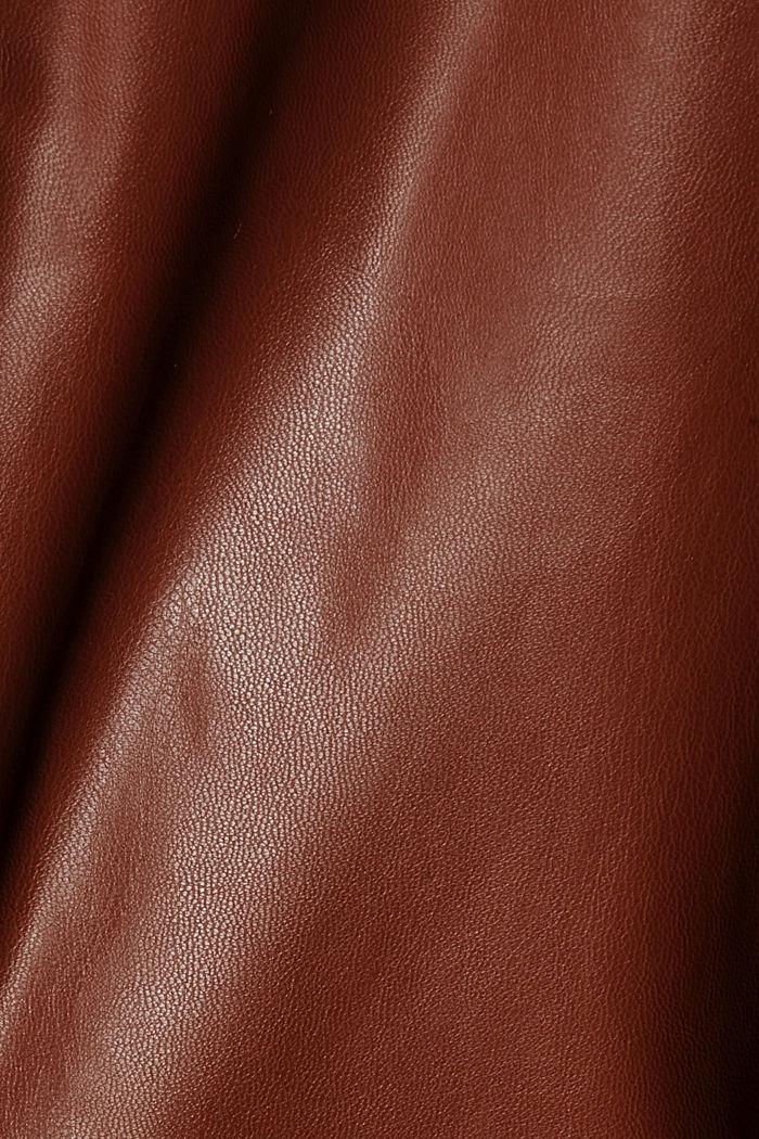 Cropped broek van imitatieleer met band met tunnelkoord, TOFFEE, detail image number 4