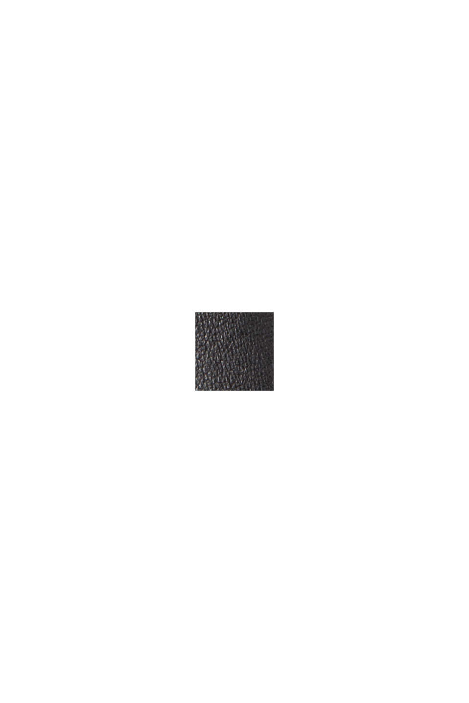 Midirock in plissierter Lederoptik, BLACK, swatch