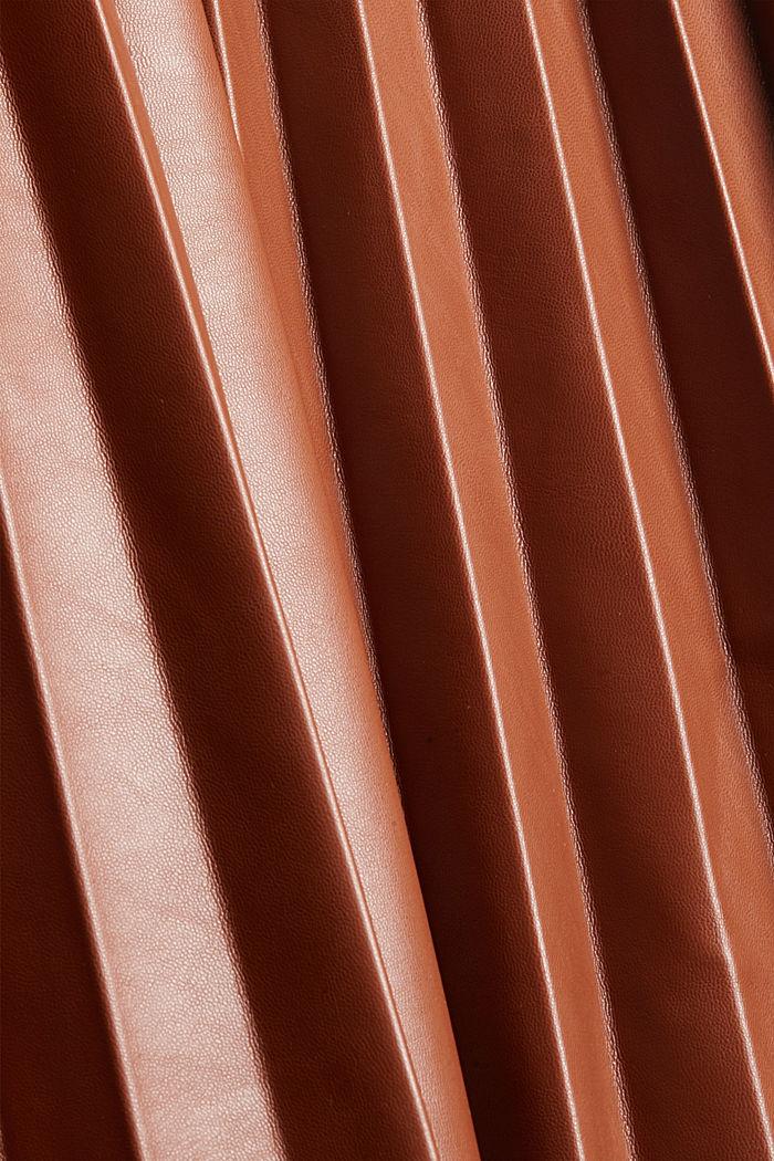 Jupe longueur midi en similicuir plissé, TOFFEE, detail image number 4