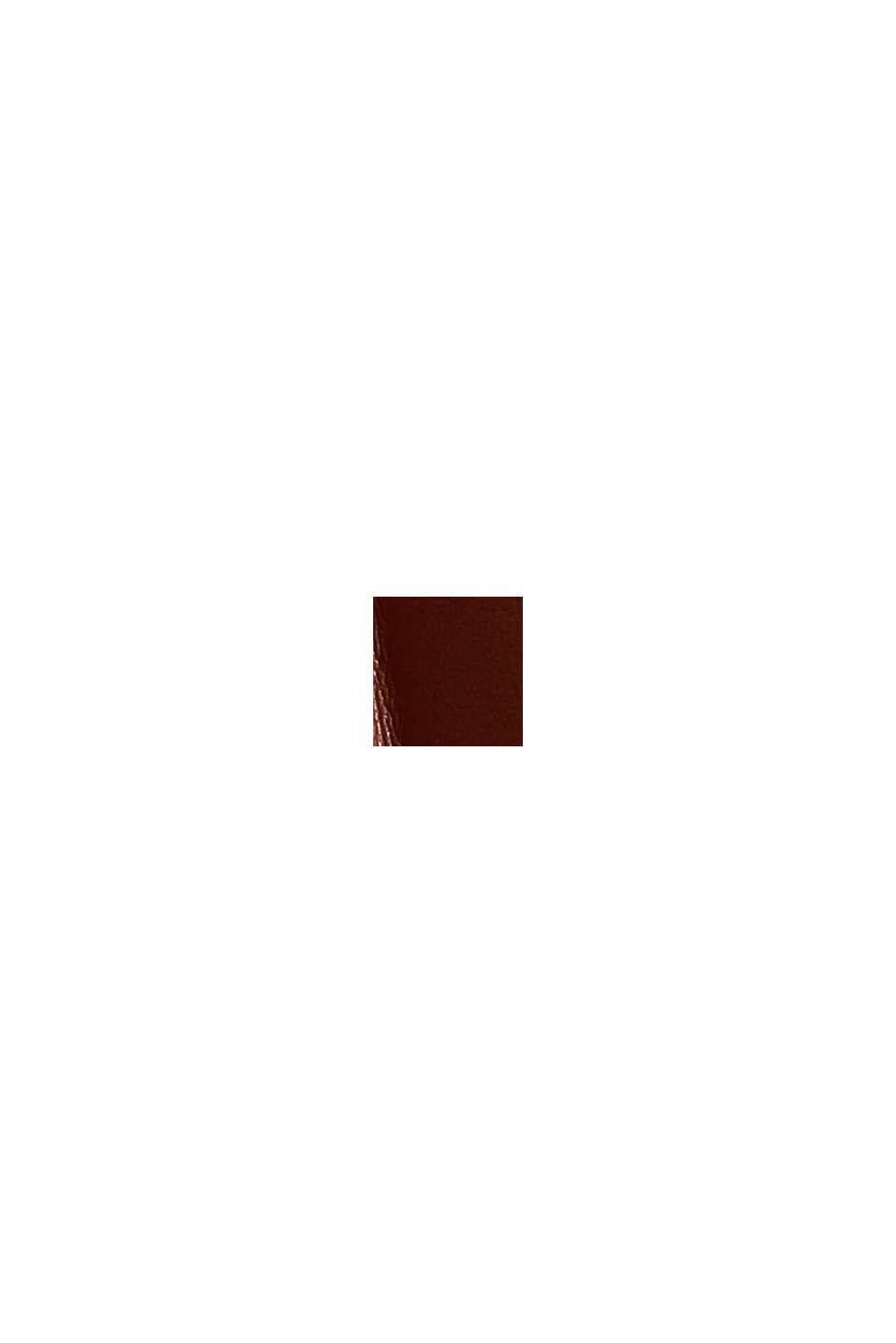 Midirock in plissierter Lederoptik, TOFFEE, swatch