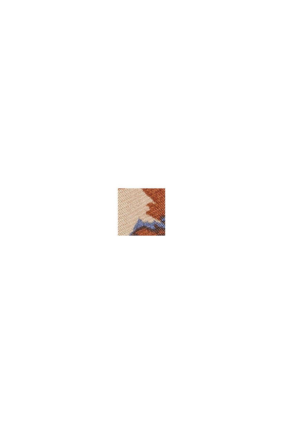 Assymetrischer Satinrock mit LENZING™ ECOVERO™, TERRACOTTA, swatch