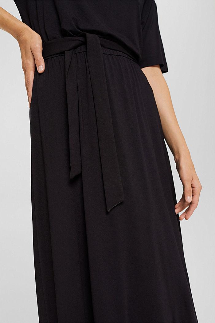 Jersey midi dress made of LENZING™ ECOVERO™, BLACK, detail image number 3