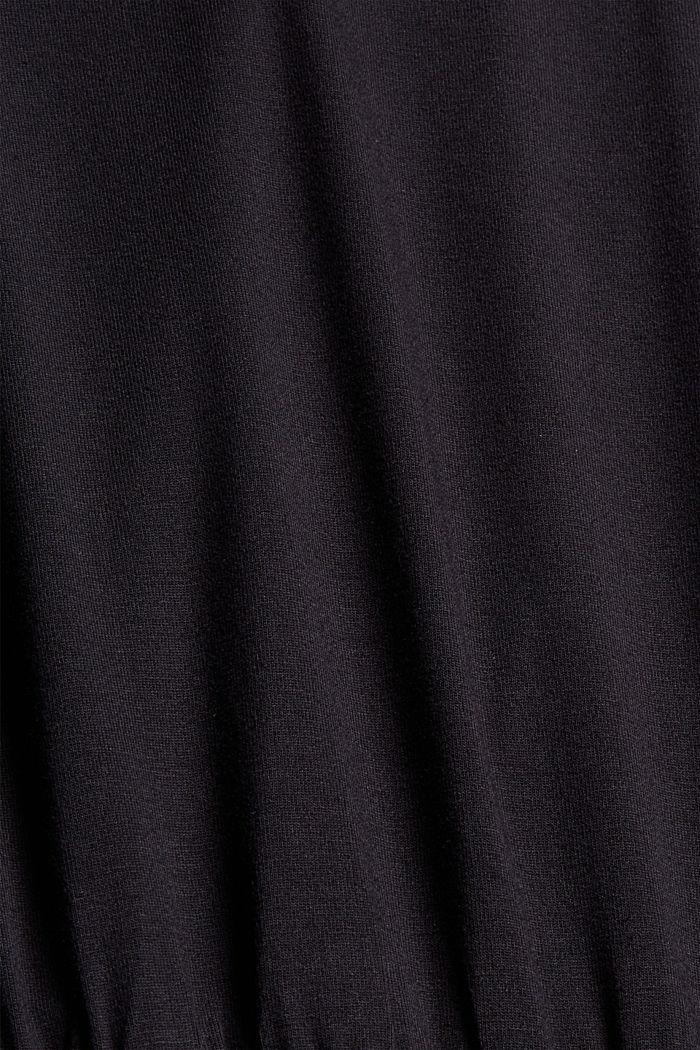 Jersey midi dress made of LENZING™ ECOVERO™, BLACK, detail image number 4