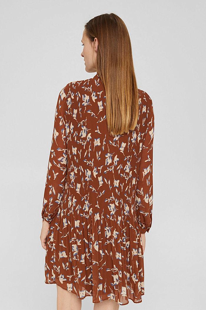 En matière recyclée: la robe plissée à imprimé, TERRACOTTA, detail image number 2