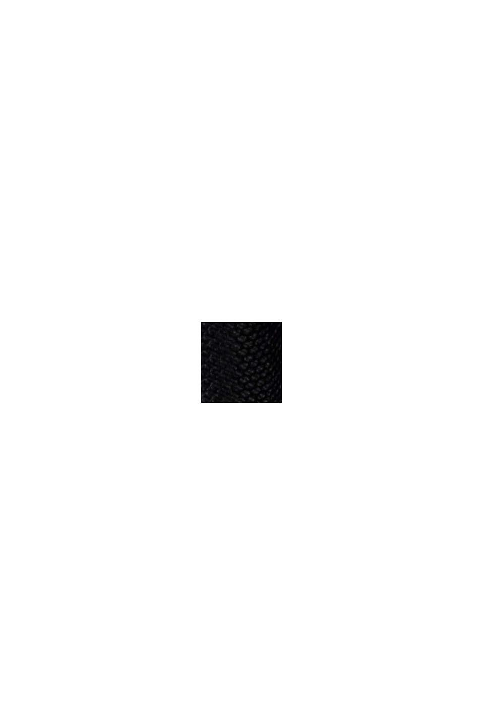 Robe en mesh à broderie florale, BLACK, swatch