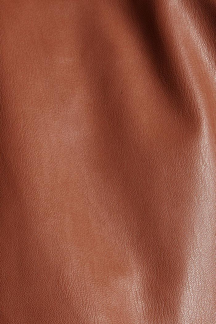 Hemdblusenkleid in Lederoptik, vegan, TOFFEE, detail image number 4