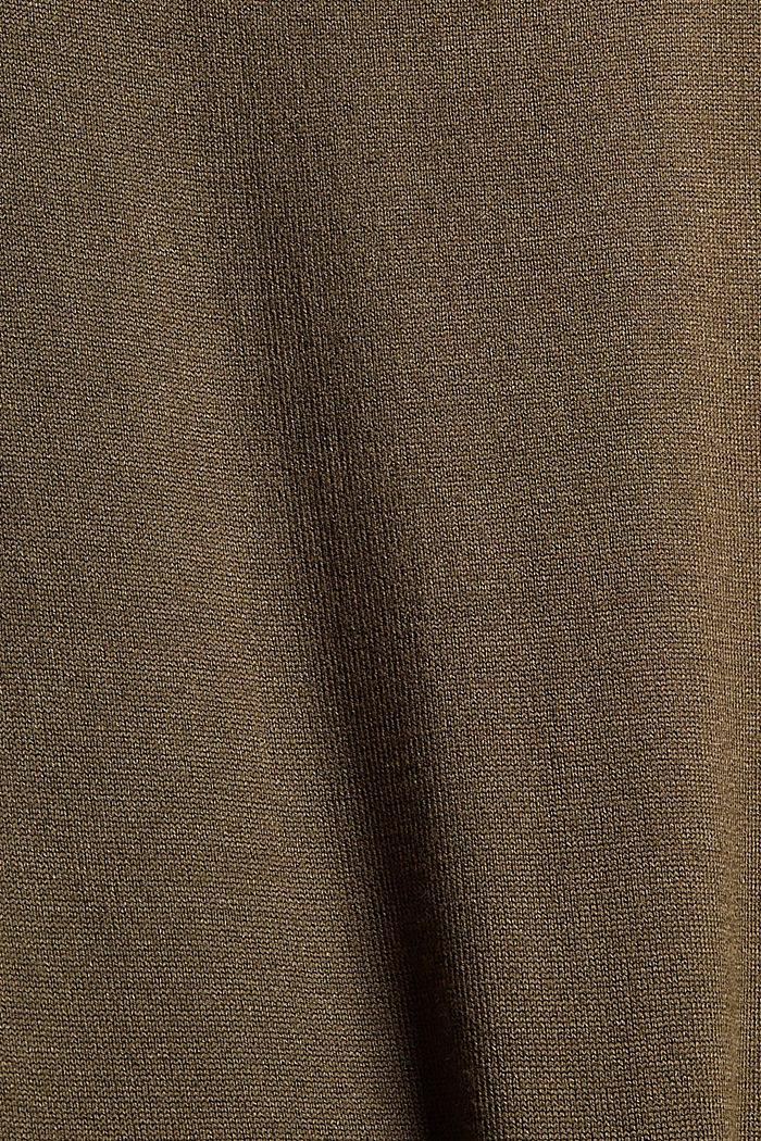 Robe au look 2 en 1 à teneur en LENZING™ ECOVERO™, DARK KHAKI, detail image number 4