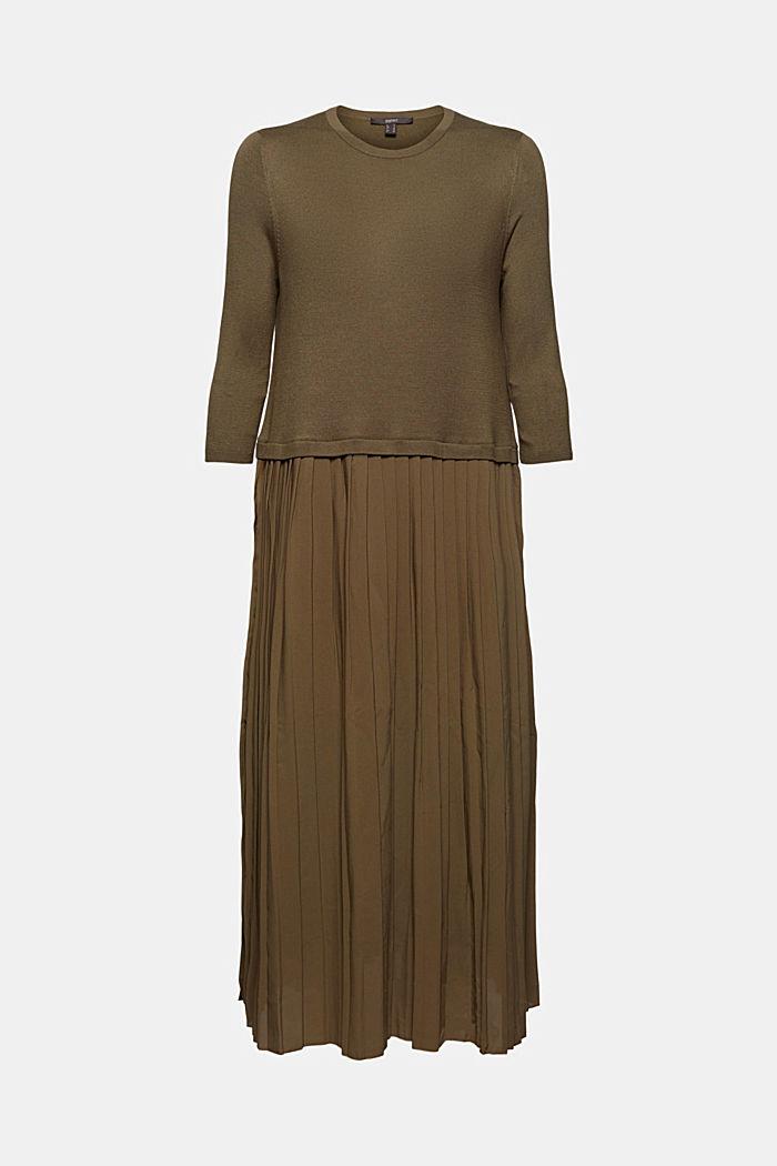Robe au look 2 en 1 à teneur en LENZING™ ECOVERO™, DARK KHAKI, detail image number 6