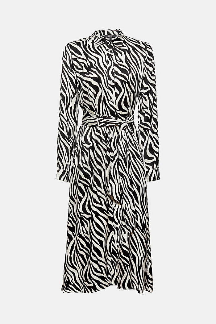 Robe chemisier au look animalier, LENZING™ ECOVERO™