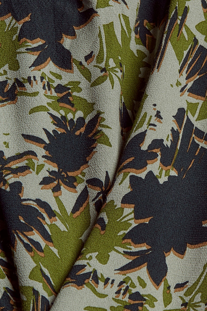Print-Bluse mit LENZING™ ECOVERO™, DUSTY GREEN, detail image number 4