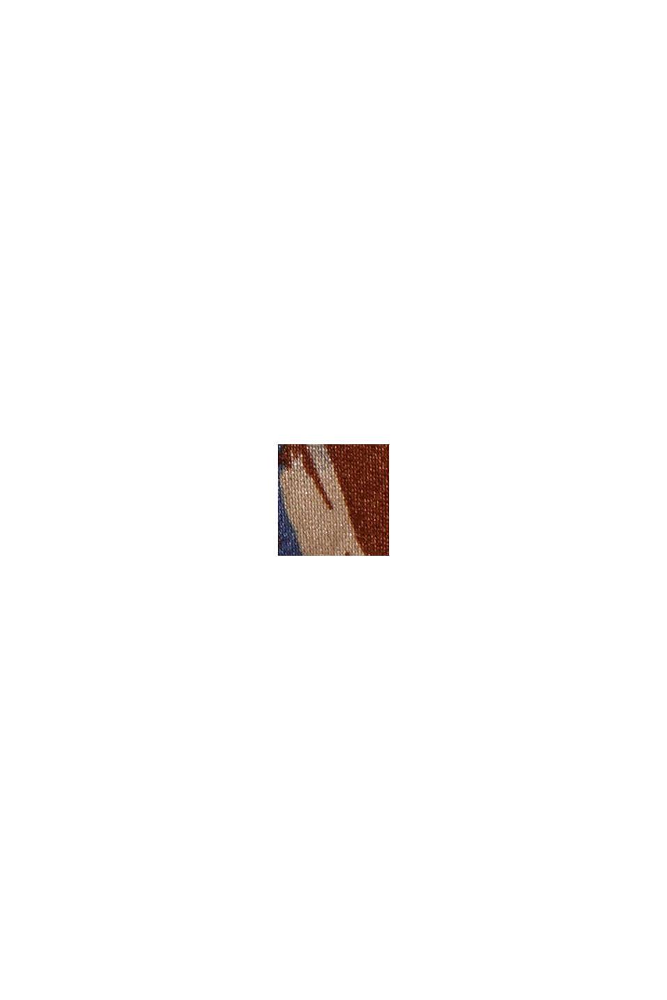Camicetta in raso con LENZING™ ECOVERO™, TERRACOTTA, swatch