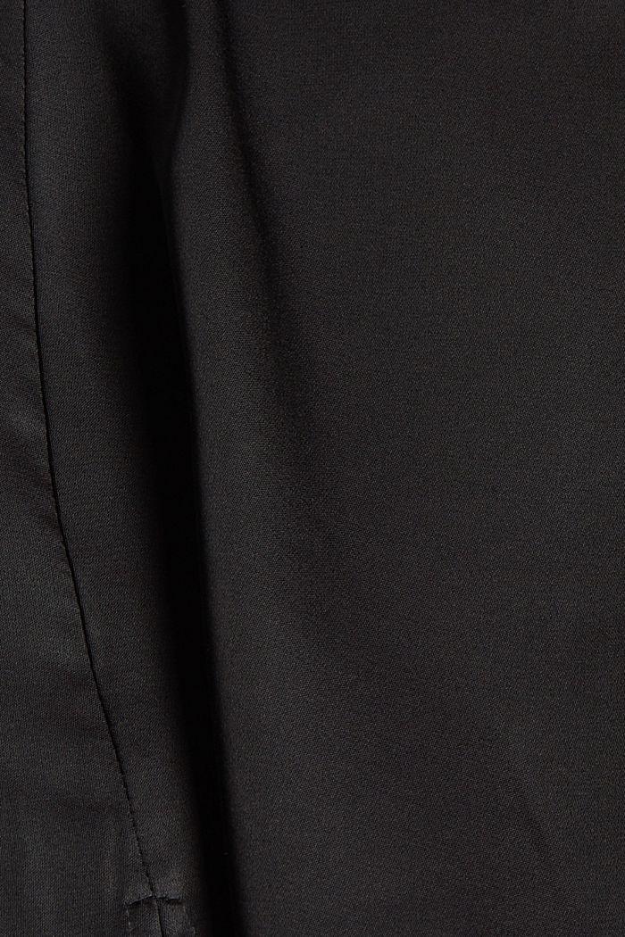 Chemisier en satin à teneur en fibres LENZING™ ECOVERO™, BLACK, detail image number 4