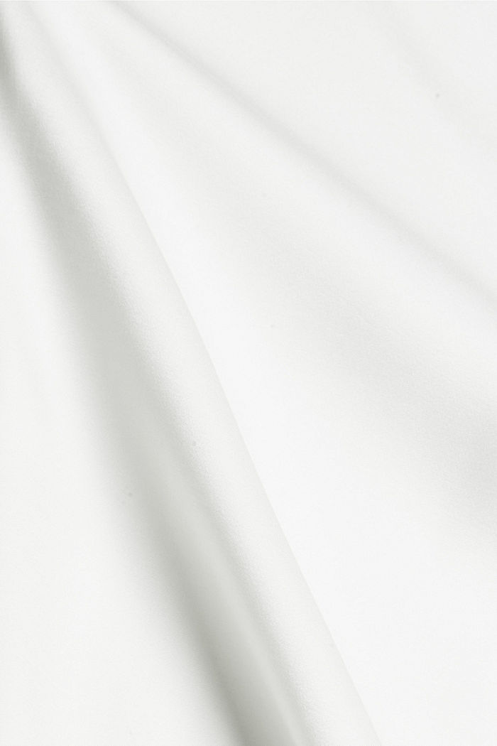 Satinbluse mit LENZING™ ECOVERO™, OFF WHITE, detail image number 4