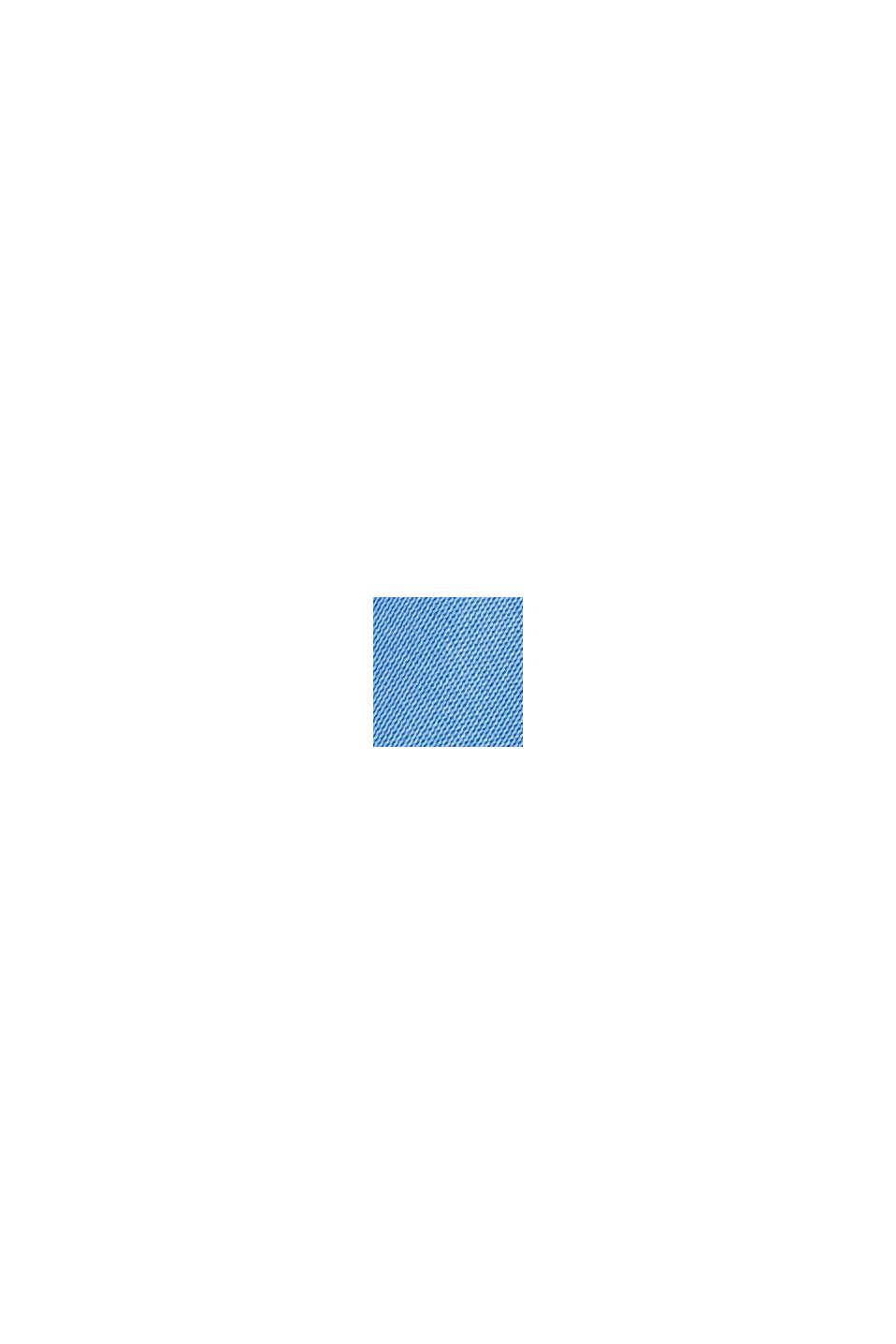 Satinbluse mit LENZING™ ECOVERO™, BRIGHT BLUE, swatch