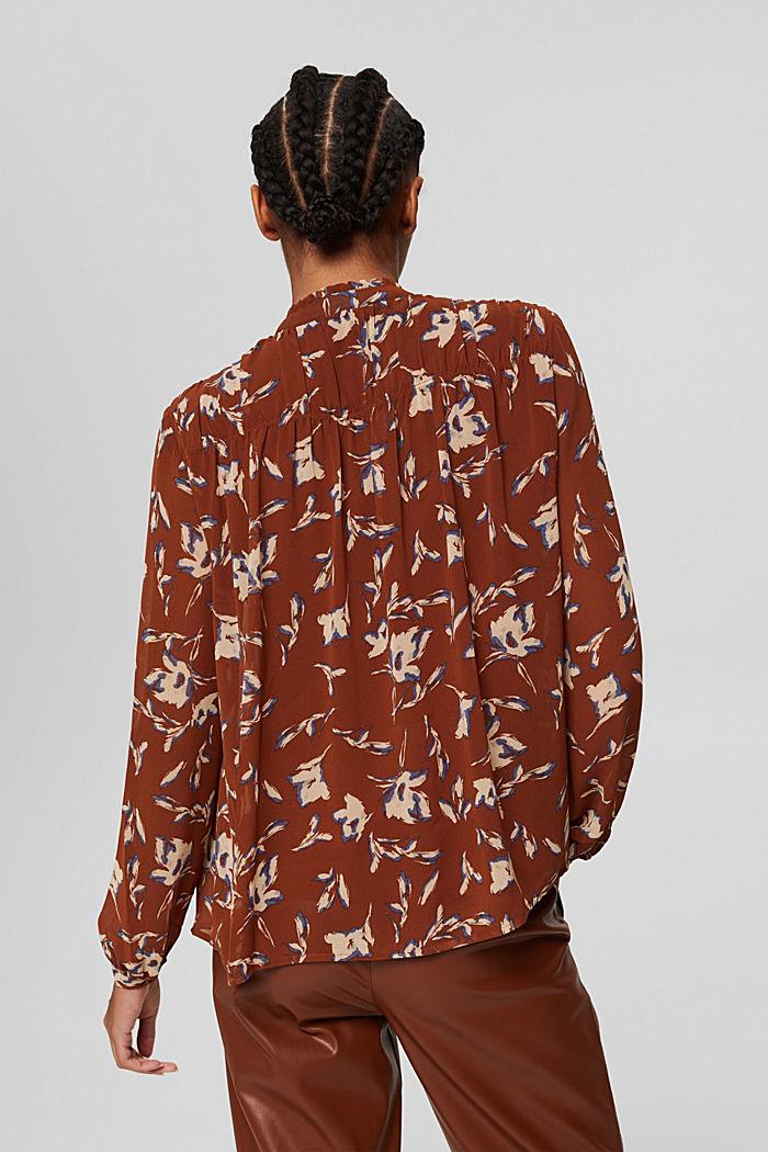 Gerecycled: chiffon blouse met bloemenprint, TERRACOTTA, detail image number 3
