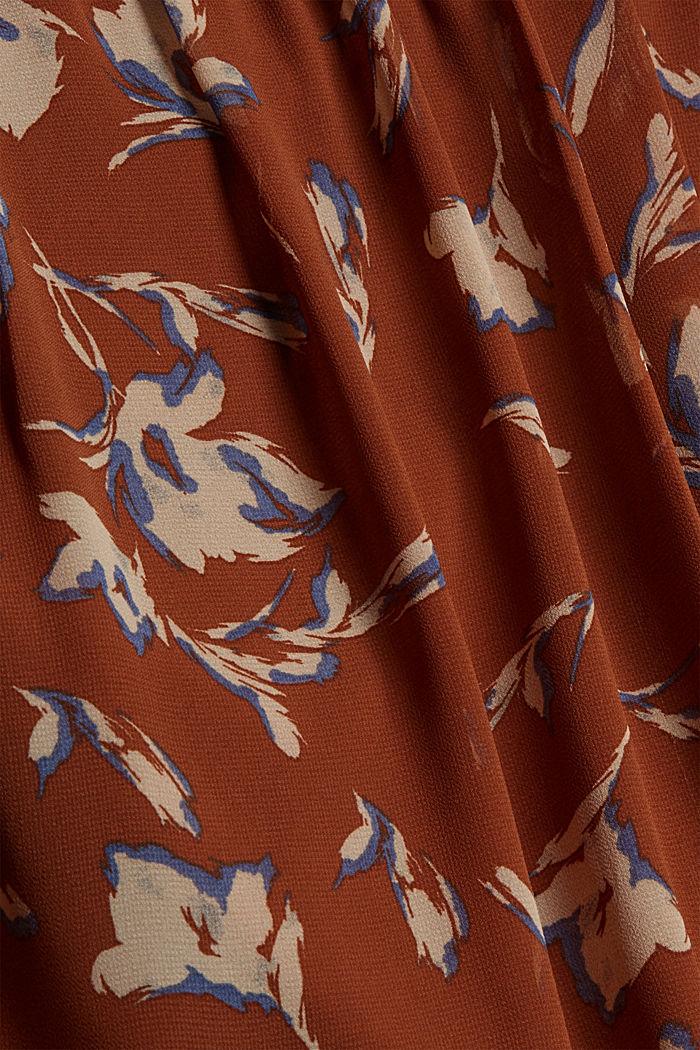 Gerecycled: chiffon blouse met bloemenprint, TERRACOTTA, detail image number 4