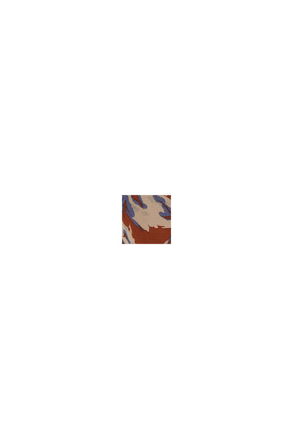 Recycelt: Chiffonbluse mit Blumenprint, TERRACOTTA, swatch