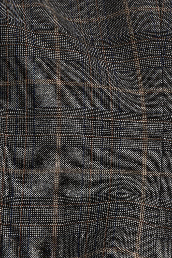 SOFT GLENCHECK Mix + Match Blazer, ANTHRACITE, detail image number 4
