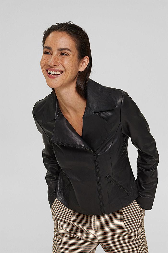 Lampaannahkainen biker-takki
