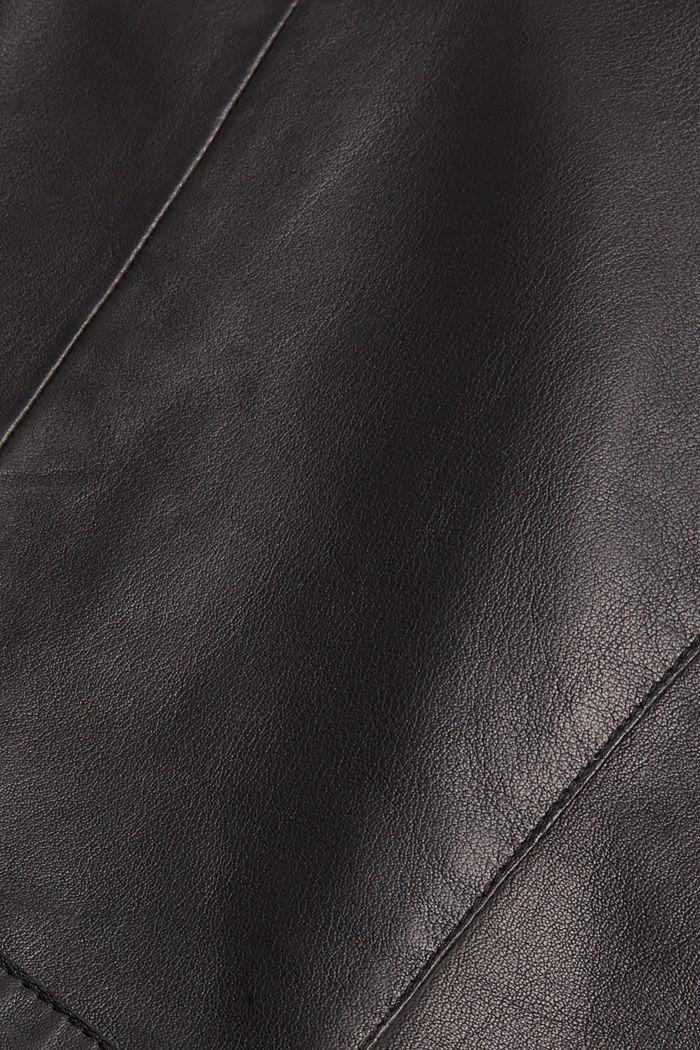 Bikerjack van lamsleer, BLACK, detail image number 4