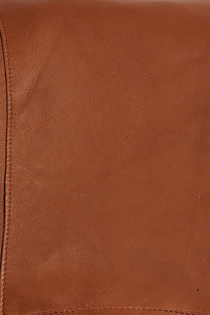 Cazadora de estilo motero en piel de cordero, TOFFEE, detail image number 4