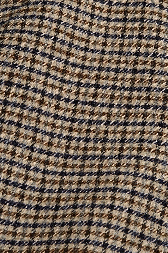 Recycelt: karierter Blazermantel mit Wolle, KHAKI BEIGE, detail image number 4