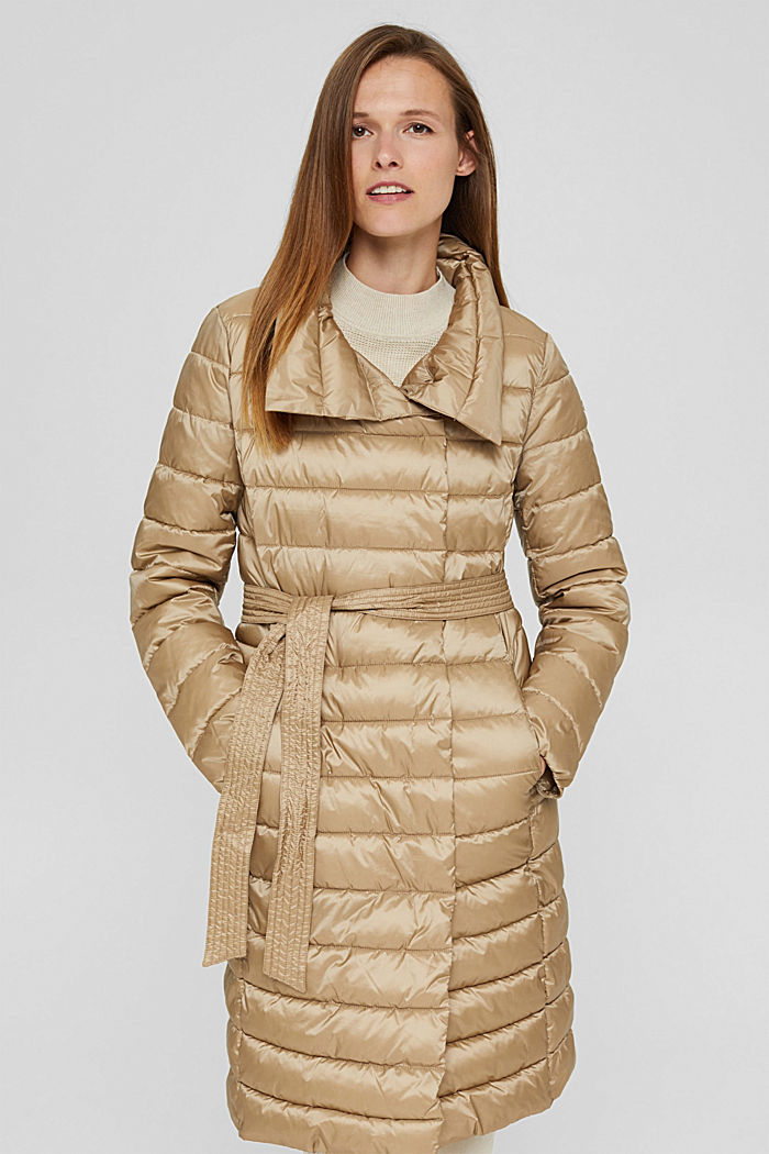 Reciclado: abrigo acolchado Thinsulate™ de 3M™, TAUPE, detail image number 0