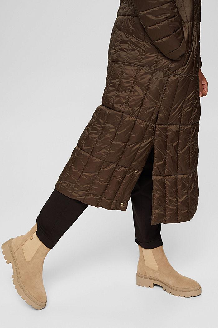 Gerecycled: gewatteerde mantel met 3M™ Thinsulate™-wattering, DARK KHAKI, detail image number 4