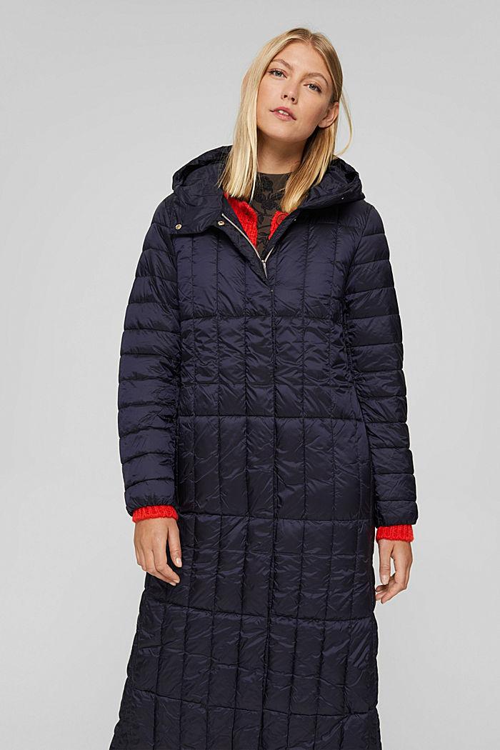 En matière recyclée: le manteau matelassé en 3M™ Thinsulate™, NAVY, detail image number 0