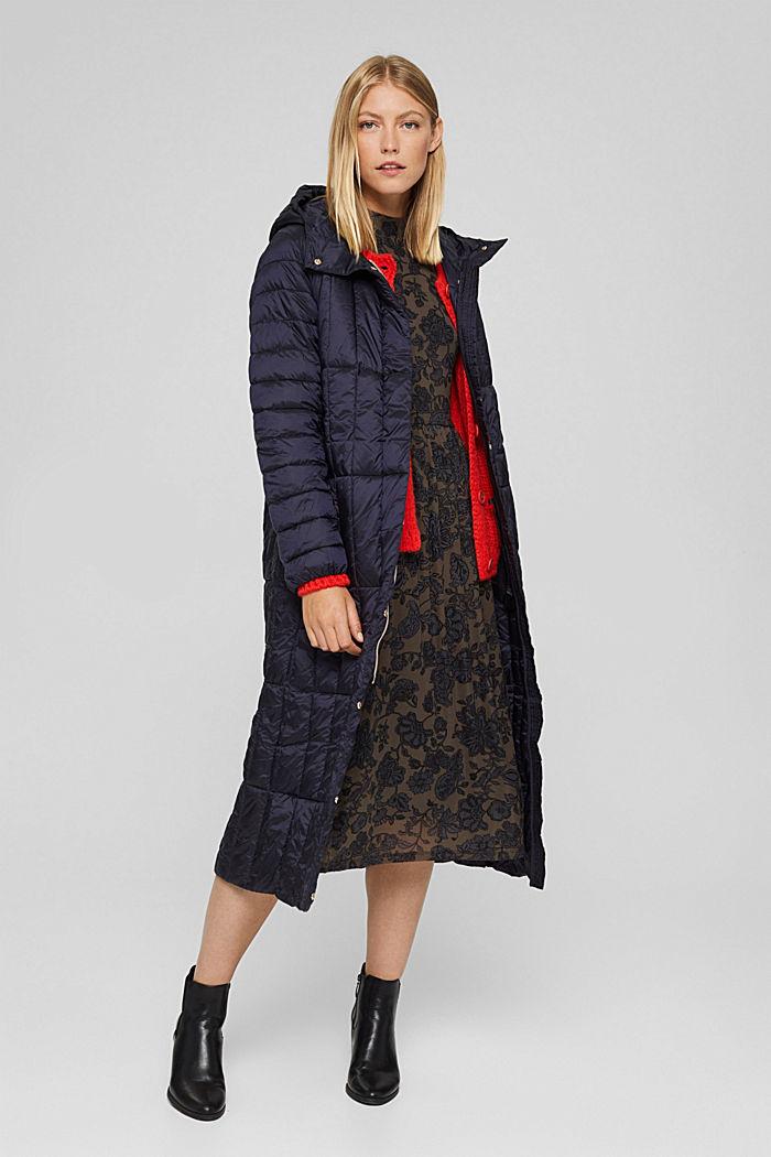 En matière recyclée: le manteau matelassé en 3M™ Thinsulate™, NAVY, detail image number 1