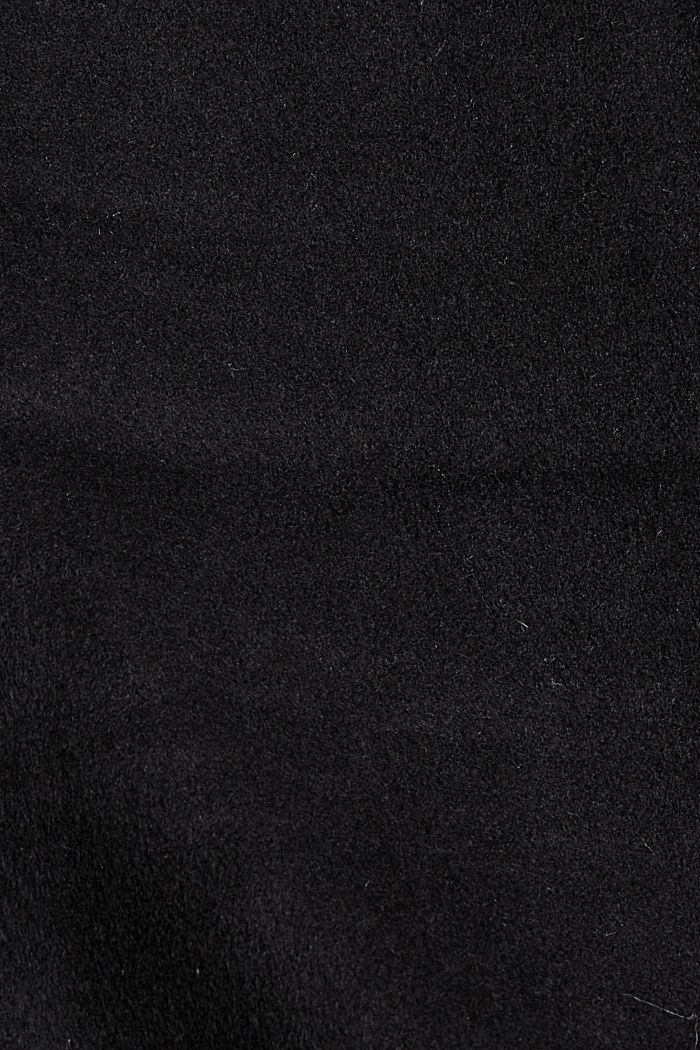 Recycelt: Woll-Mix Jacke, BLACK, detail image number 4