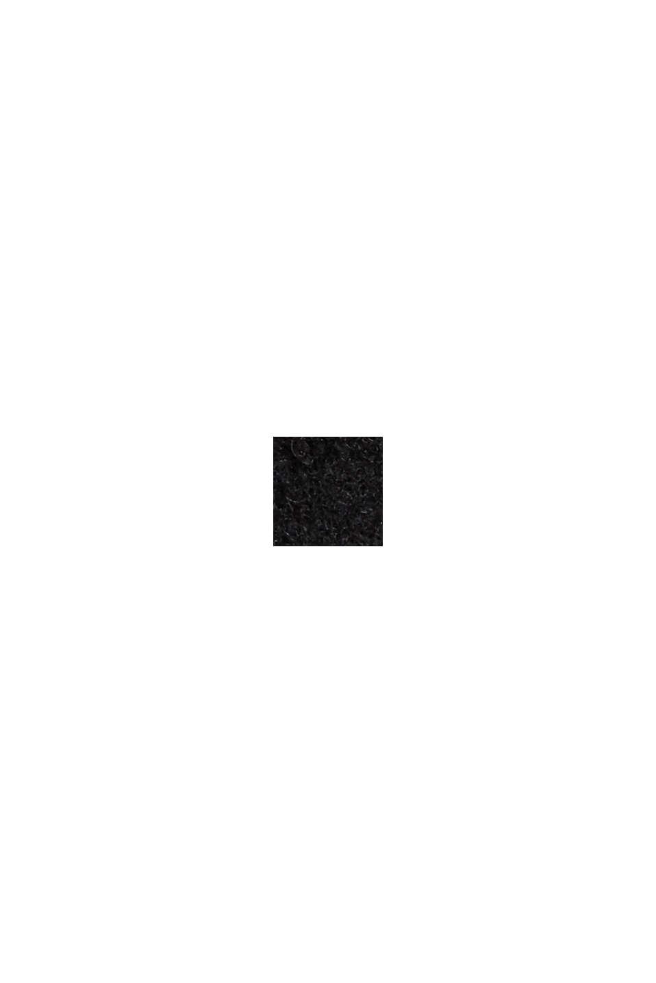 Återvunnet material: Jacka i ullmix, BLACK, swatch