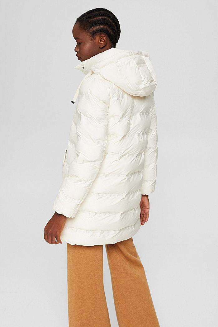Gerecycled: gewatteerde mantel met afneembare capuchon, ICE, detail image number 3