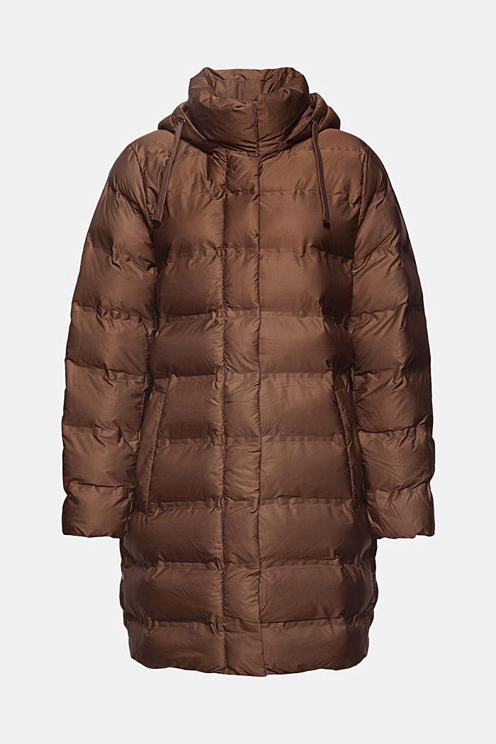 En matière recyclée: le manteau matelassé à capuche amovible, DARK BROWN, detail image number 7