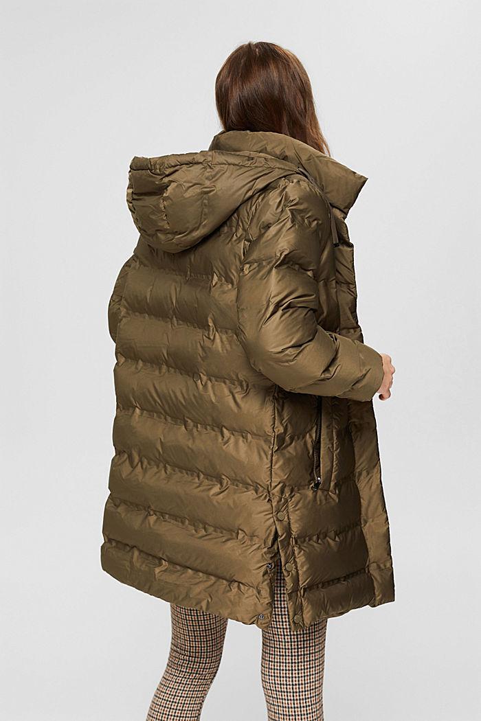 En matière recyclée: le manteau matelassé à capuche amovible, DARK KHAKI, detail image number 3