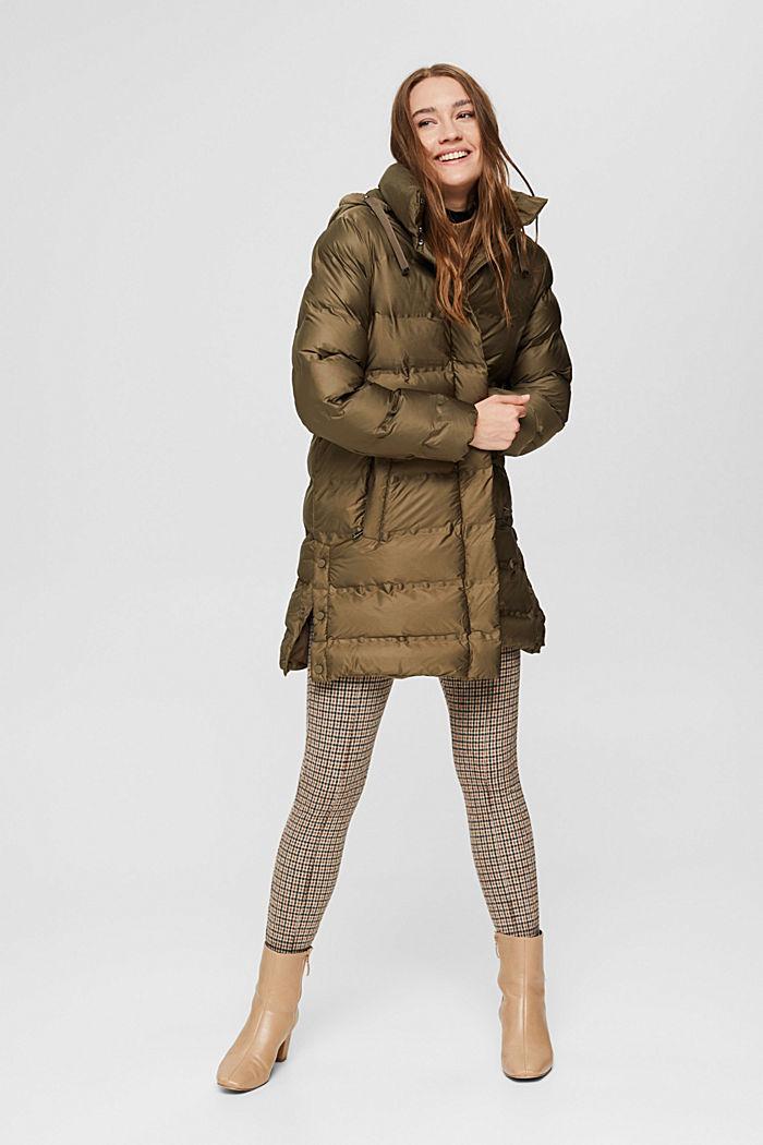 En matière recyclée: le manteau matelassé à capuche amovible, DARK KHAKI, detail image number 1