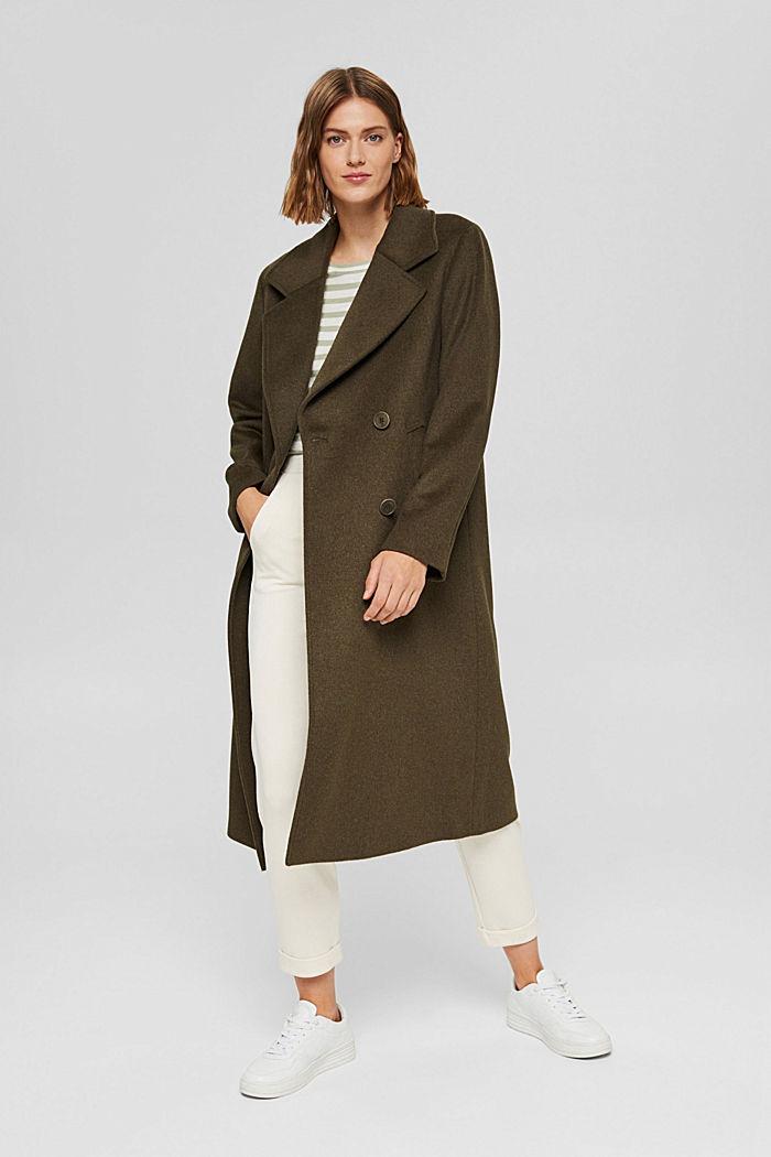 Z recyklingu: płaszcz oversize z mieszanki wełnianej
