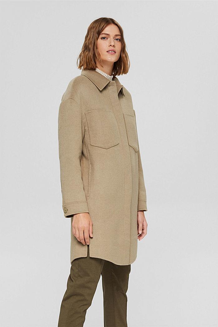 Coats woven, BEIGE, detail image number 0