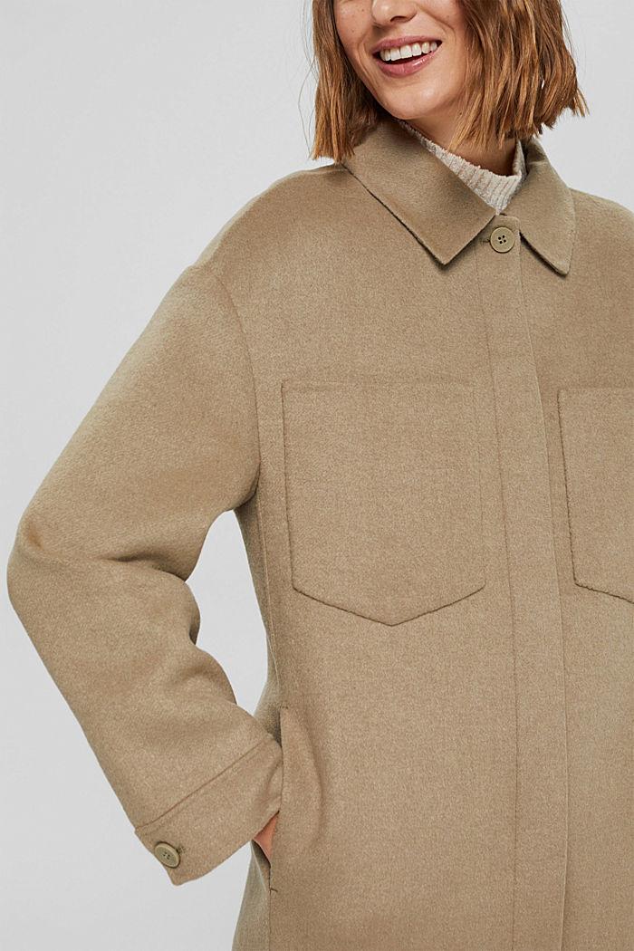 Coats woven, BEIGE, detail image number 2