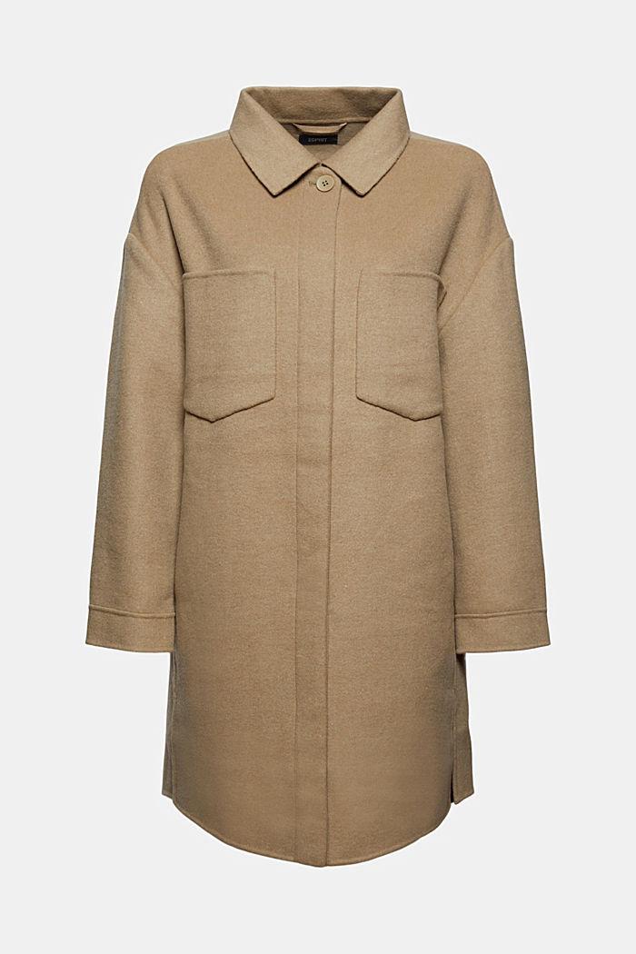 Coats woven, BEIGE, detail image number 7