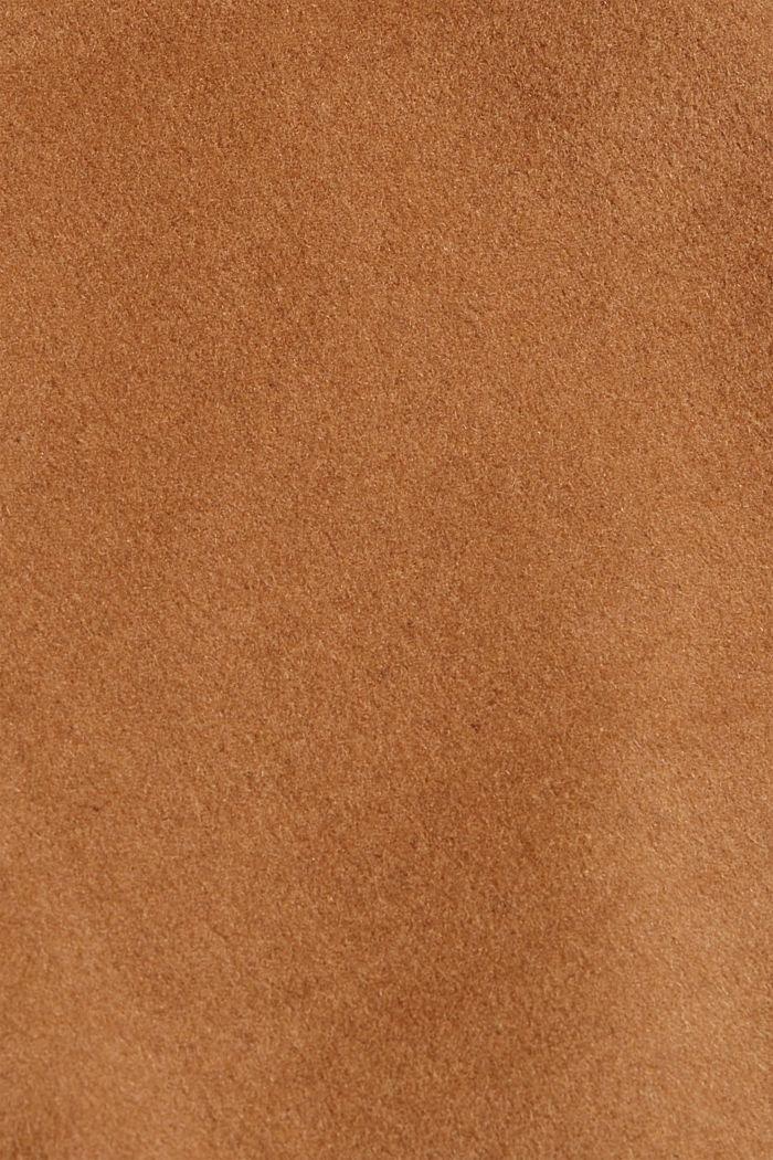 Gerecycled: wolmix shacket, CARAMEL, detail image number 4
