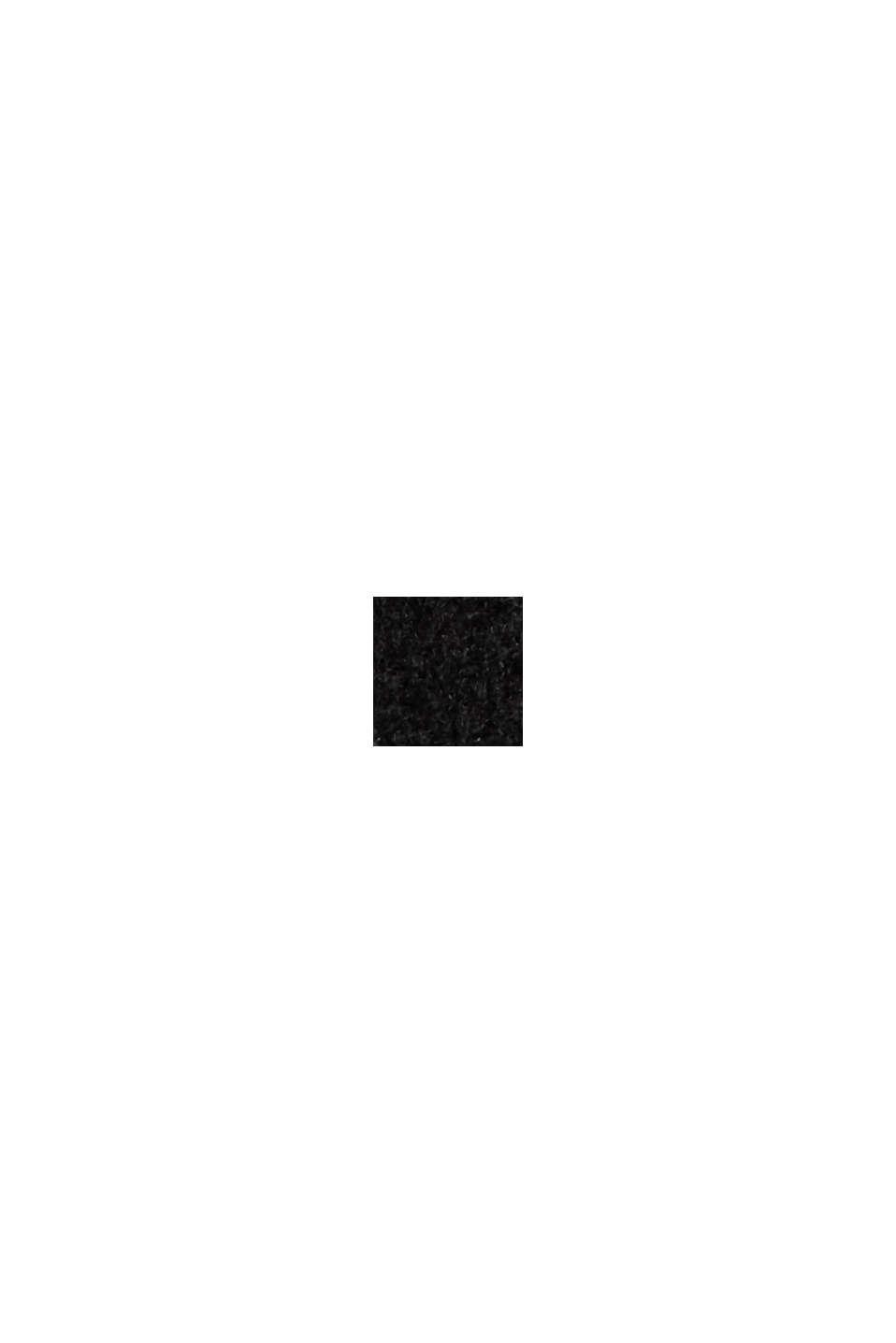 Återvunnet material: Oversizekappa i ullmix, BLACK, swatch