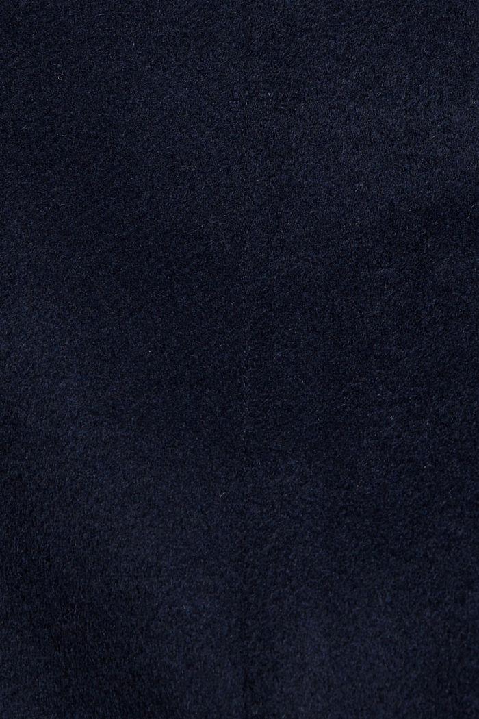 Gerecycled: mantel met rits, van een wolmix, NAVY, detail image number 4