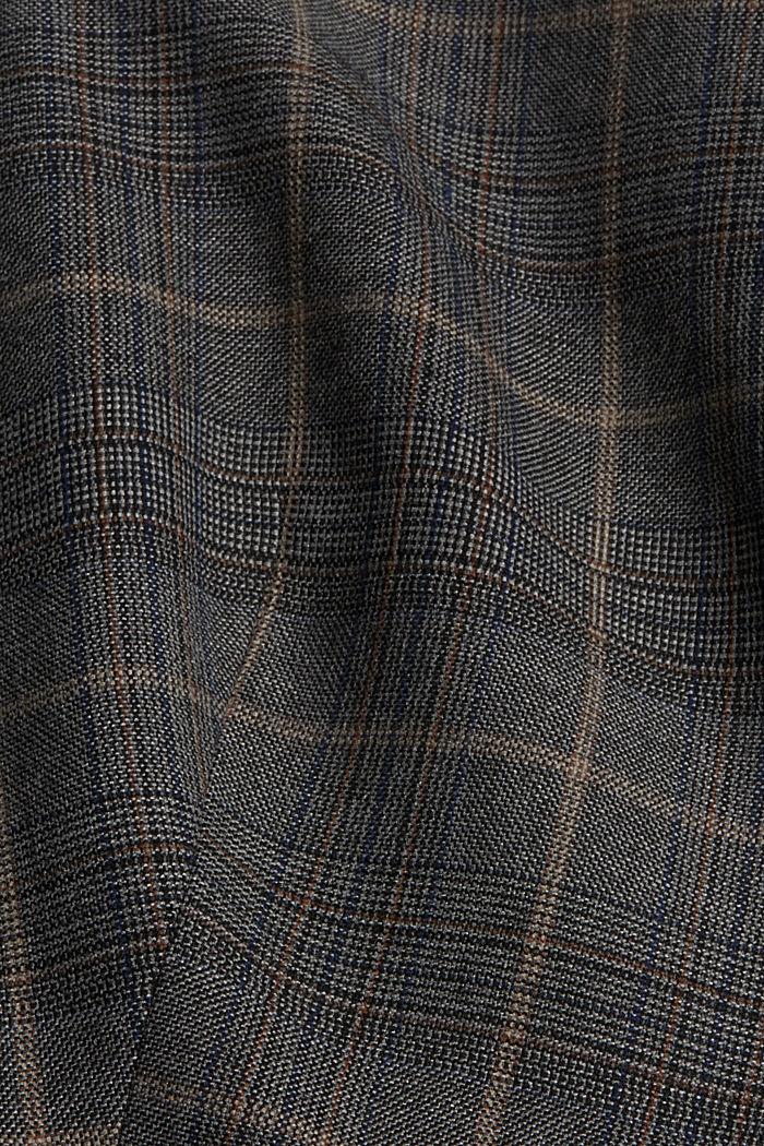 SOFT GLENCHECK mix + match gilet, ANTHRACITE, detail image number 4