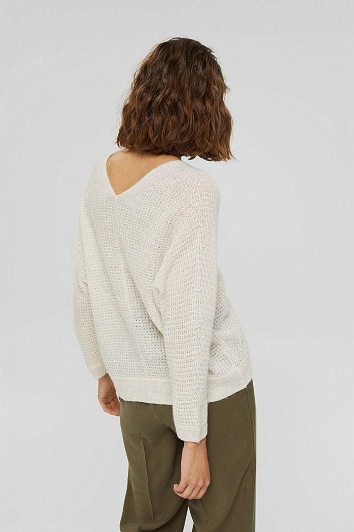 Mit Alpaka/Wolle: Pullover mit V-Ausschnitt, ICE, detail image number 3